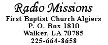 Radio Missions, First Baptist Church Algiers
